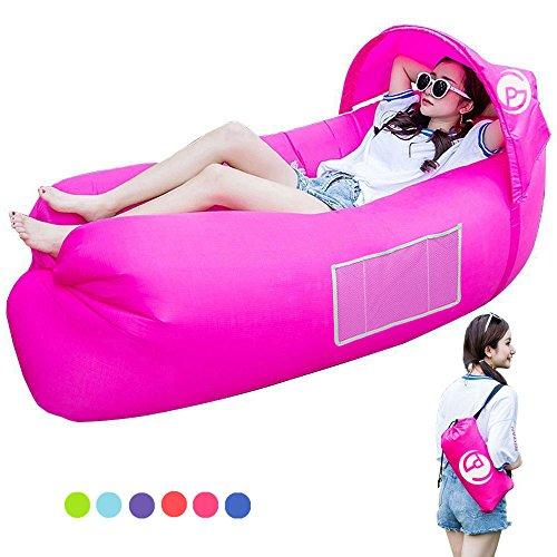 Air sofá, hinchable Lounger impermeable portátil hinchable sofá/cama/kampierender playa de y jardín de tiempo libre Saco de dormir kampierender exterior para camping senderismo, de piscina y playa Fiestas