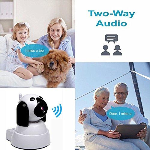 IP Kamera, Wireless WiFi Kamera 720P HD Überwachungskamera Hund IP Cam mit 355°/120°Schwenkbar, Bewegungsmelder, Nachtsicht, Fernbedienung - 7