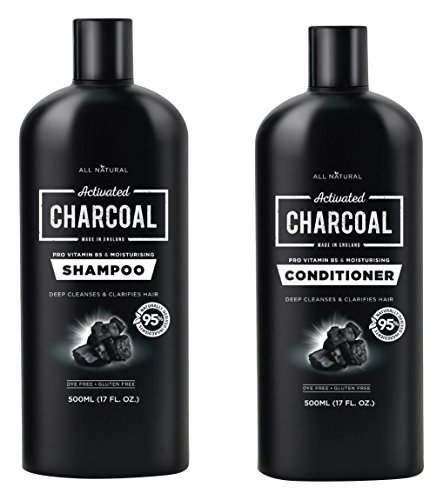 Aktivkohle Klimaanlage (Natürliches Aktivkohle-Shampoo 500 ml & Conditioner 500 ml Set)
