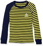 Odlo Kinder Shirt l/s Crew Neck WARM Kids, Peacoat-Blazing Yellow, 128