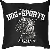 Kissen mit coolem Hundemotiv - Dog Sports - Boxer - Für Tierliebhaber - Couch Kissen - Geschenkidee