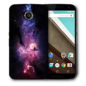 Snoogg Stars Galaxies Purple Printed Protective Phone Back Case Cover For LG Google Nexus 6