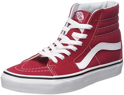 ne Sk8-Hi Hohe Sneaker, Rot (Crimson/True White Q9u), 43 EU (Rote Vans Sneaker Für Männer)