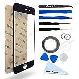 Kit de Reemplazo de Pantalla Táctil para iPhone 6 6S Negro. Incluye Pinzas / Cinta adhesiva 2 mm / Kit de Herramientas / Limpiador de Microfibra / Alambre Metálico / Manual de Instrucciones MMOBIEL