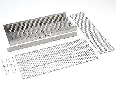Brick BBQ-Kit 100% sehr schwere Edelstahl + Warmhalterost 90x 39cm entspricht BS EN 1860: 2013–1Für Design Sicherheit & Qualität bkb301