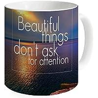 okoikiu Beautiful cose non chiede attenzione Tazza Tè Tazza Di Caffè Tazza di latte 11oz–-personalized regalo per compleanno, Natale e Anno Nuovo
