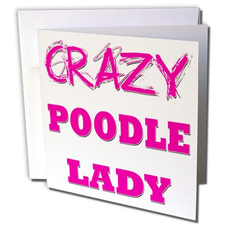 3drose Crazy Pudel Lady, Grußkarten, Set of 6(GC 175235_ 1)
