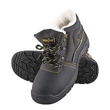 Reis BRYES-TO-OB_45 - Scarpe da lavoro, misura 45, colore: Nero/Giallo