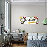 Bild 100 x 40 cm - Küche Bilder- Vlies Leinwand - Deko für Wohnzimmer -Wandbild - XXL Teile - leichtes Aufhängen- 802912a