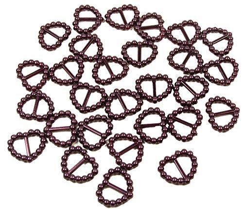 50x-bordeaux-scuro-acrilico-perla-fibbie-a-forma-di-cuore-16mm-x-15mm-doppio-nastro-cursori-per-deco