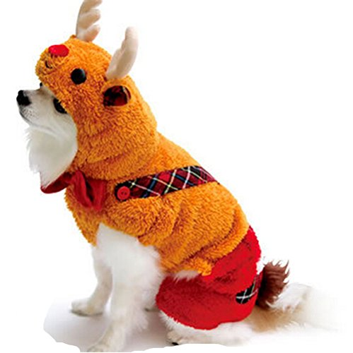 PoodleHouse Rentierkostüm für Haustiere, Overall, für kleine Hunde, - Kleiner Hund Ewok Kostüm