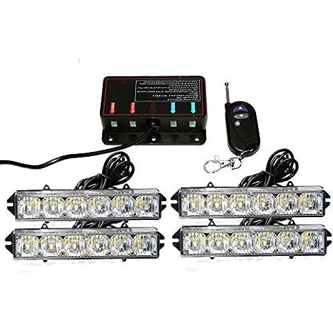 biaochi coche Auto LED 6modos de Flash 12V 24W peligro seguridad de emergencia Advertencia linterna parrilla Dash cubierta Barra de luz estroboscópica lámpara km313m