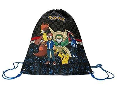 bestpreis Comercio Pokemon Turn Bolsa Bolsa Bolso en negro, 44x 37cm por BestPreisHandel