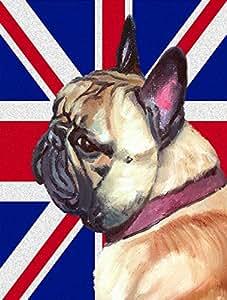 Caroline 's Treasures lh9601chf Französische Bulldogge Motiv: Frenchie mit englischem Union Jack British Leinwand House Flagge