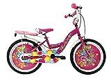 IBK Bici Bicicletta Bambina Love Misura 20' Colore Bianco con PARAFANGHI (Rosa)