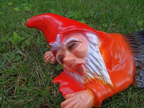 Gartenzwerg überfahren aus bruchfestem PVC Zwerg Made in Germany Figur - 2