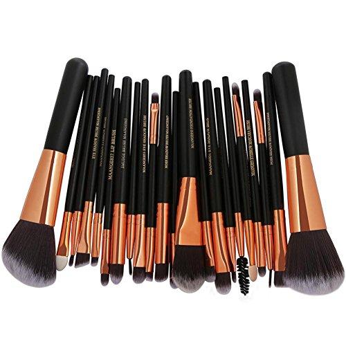 Honestyi 22Pc pinceaux de maquillage Kit d'outils cosmétiques Poudre Fondation Le fard à paupières Eyeliner Lèvre (D)