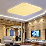 VINGO® 60W LED Deckenlampe Warmweiß Eckig Starlight Deckenbeleuchtung Wand-Deckenleuchte Badezimmer geeigne