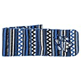 JACK WOLFSKIN Schal HAZELTON SCARF KIDS, coastal blue allover, ONE SIZE, 1906521-7969
