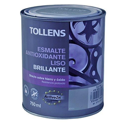 Tollens 8710 Esmalte Antioxidante Liso Brillo Platino 750 ml