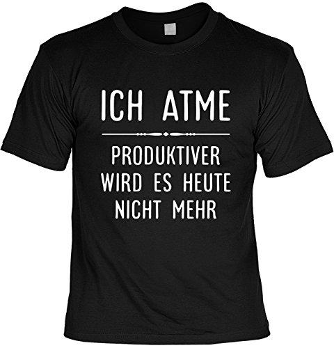 Lustiges Sprüche Shirt T-Shirt mit Urkunde Ich Atme… Geschenkartikel Fun Artikel Partygeschenk Man Männer Geschenk