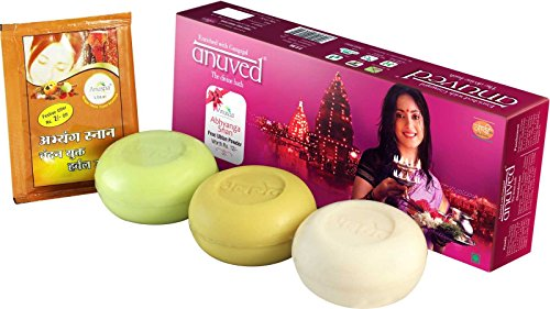 Anuved-Gift-Pack-Exclusive-pack-of-3-quality-Bhakti-soaps-125gm-each-enriched-with-Gangajal-from-Rishikesh