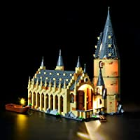 BRIKSMAX Harry Potter Hogwarts Great Hall Led Lighting Kit- Compatible with Lego 75954 Building Blocks Model- Not Include The Lego Set