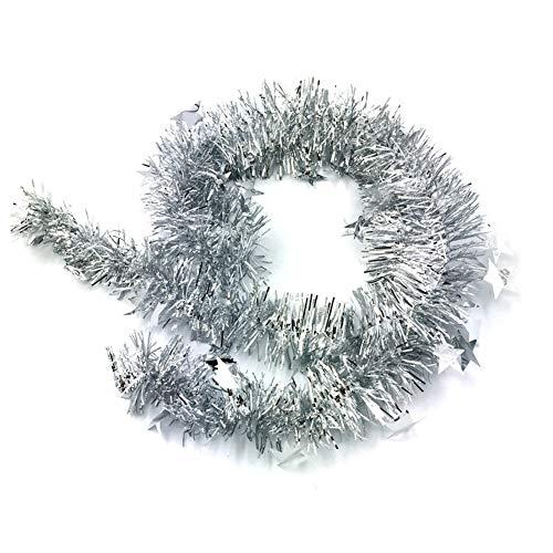 Kentop Weihnachtsgirlande Weihnachtsbaum Lametta Stern Girlande Christbaumschmuck Weihnachten Deko 7M