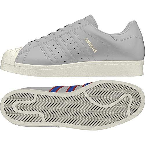adidas Herren Superstar 80s Fitnessschuhe, Grau (Gricua/Azul/Rojsld 000), 48 2/3 EU -