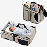 Techsun Mart Multifunctional Polyester Baby Bed Folding Crib, Standard, Opened Size-75x40x20cm (Multicolour)