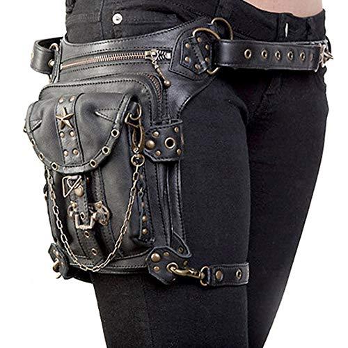 Rullar - Bolsa de cintura unisex para senderismo y senderismo, táctica militar, bolsa para la pierna, al aire libre, bicicleta, motocicleta, ciclismo, mochila, bolsa de hombro, color negro, color negro, tamaño 1
