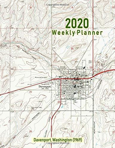 2020 Weekly Planner: Davenport, Washington (1969): Vintage Topo Map Cover -