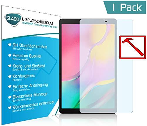 Slabo Premium Panzerglasfolie für Samsung Galaxy Tab A T510 | T515 10,1 Zoll (2019) Panzerfolie Schutzfolie Echtglas Folie Tempered Glass KLAR 9H Hartglas
