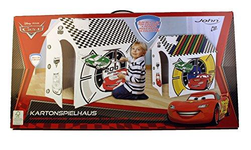 John 86257 Cars - Casa de juegos fabricada en cartón para colorear