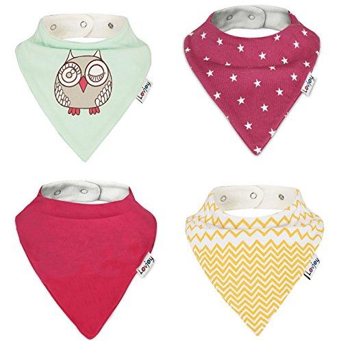 Lovjoy Bandana Drool baberos (4unidades) Super absorbente y suave para mayor comodidad con ajustable Snaps- bebé regalo para niños y niñas SET 12