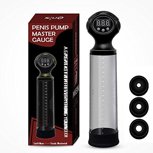 Smart USB Lade Männlichen Vakuum Penis Pumpe Display Master Gauge Penis Kopf Vergrößerer Extender Exerciser (13.0 Lcd-display)