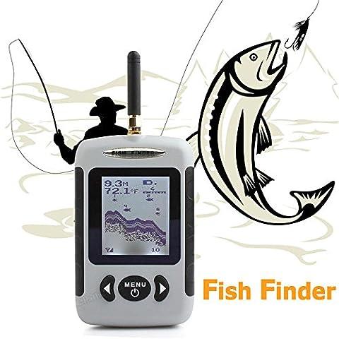 Fortunato Fish Finder Ecoscandaglio Sonar Wireless Pesca Fotocamera Subacquea Sonda