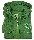 PRPS GOODS & CO JEANS Sweatshirt-Jacke grün mit LOGO (L)