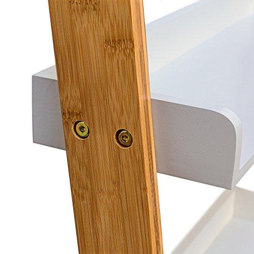 Relaxdays estanter a estilo escalera de bamb con 4 - Escaleras de bambu ...