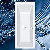 Badewanne HOCLEO in verschiedenen Größen - Acryl Rechteckbadewanne mit Frontschürze ULN, Größe 170x70 cm