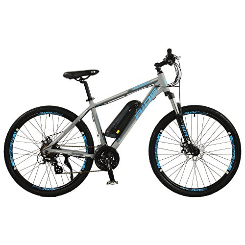 "Spark Mens 27.5"" Wheel Electric Mountain Bike with 21 Speed shimano Gears"