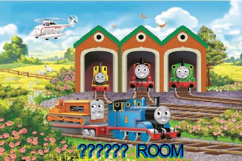 THOMAS THE TANK ENGINE   2   PERSONALISED BEDROOM DOOR PLAQUE   THE PLAQUE  ARE 9.6cm X 6.6cm APPROX   IDEAL GIFT