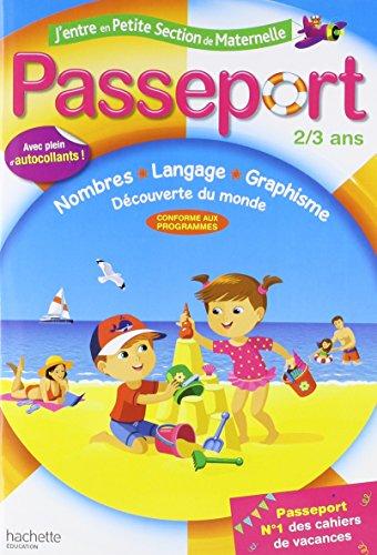 Passeport J'entre en PS - 2/3 ans- Cahier de vacances