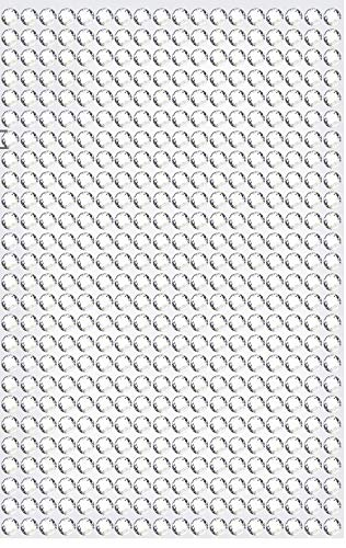 468 Strasssteine selbstklebend Glitzersteine zum Aufkleben rund Glitzer Aufkleber 5mm groß Kristalle Dekosteine Bastelsteine in silber klar