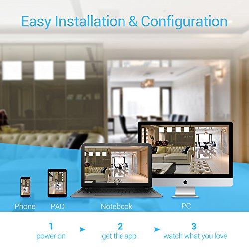 【720P】Ctronics Überwachungskameras Dome Kamera IP WIFI Wireless Kamera 720p - 3