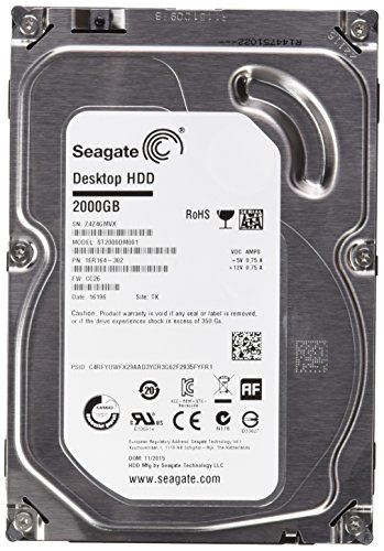 "Seagate Barracuda - Disco duro interno de 2 TB (3.5"", SATA3, 64 MB, 7200 rpm)"