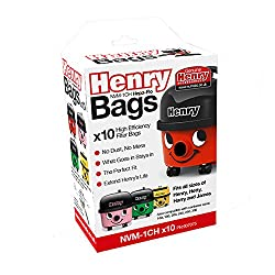 Henry Nvm-1ch Hepaflo Vacuum Bags, White