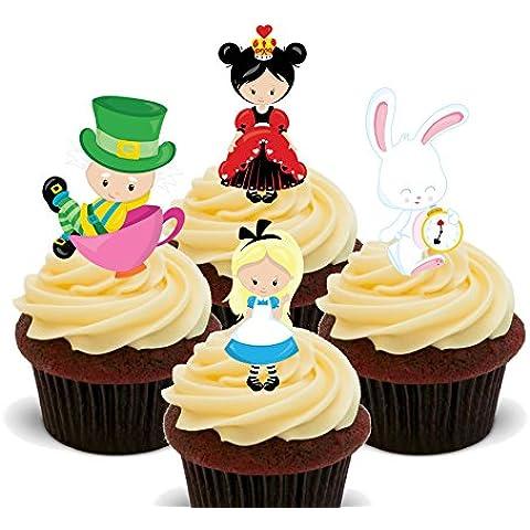 Alice nel paese delle meraviglie, topper per Cupcake commestibile, Stand-up-Decorazioni