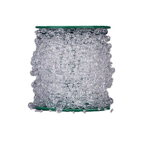 60m Roll Perlenband Perlenkette Perlengirlande Perlenschnur Hochzeit