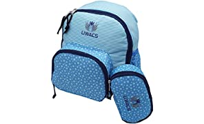 Toddler Children backpack Kindergarten small children preschool backpack with utensils bag, for girls and boys, ideal for everyday life, preschool, wandering, sports and leisure, LIWACS Blue Stars